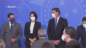 總統染疫還是「罩」不住 巴西第一夫人、科技部長接連確診