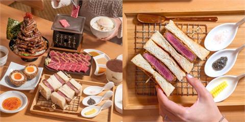 台中美食 嵐山熟成牛かつ專売|肉食控天堂!人氣必點「炸牛菲力吐司」每日限量,厚食軟嫩每一口都驚艷!