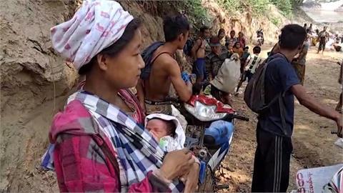 克倫族遭緬軍轟炸 2萬難民流離失所躲叢林