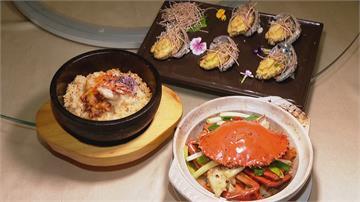 中西合併創意料理!石鍋海膽燉飯 義大利米吸收蝦湯鮮甜