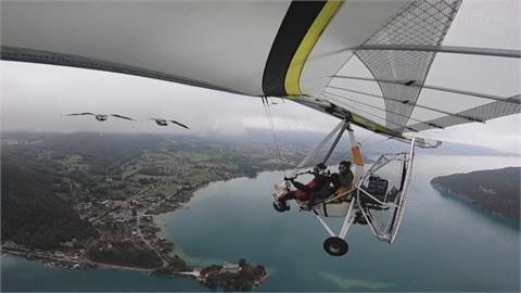 法國版「返家十萬里」 女子搭機帶領雁群飛行