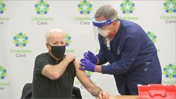 拜登打了第二劑 上任第一要務 百日內一億人施打武肺疫苗