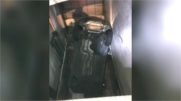 中和機械式停車場傳意外 汽車爆衝墜6公尺機間