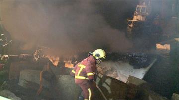 林口發電廠舶區漁港 船火燒船意外 幸無人傷