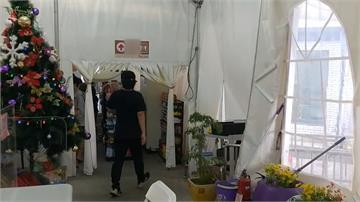 新竹湖口休息區南下站整修中臨時超商「肅穆莊嚴」網笑:要跪爬進去?