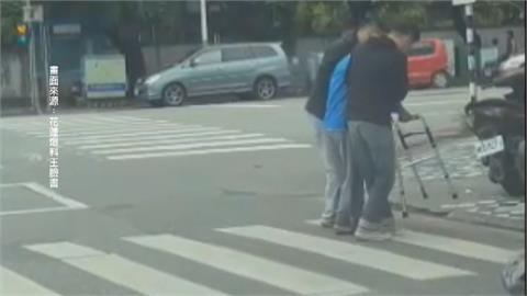 「國軍弟兄」護老翁過馬路 網讚:最美風景在花蓮