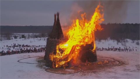 燒毀吧武肺!俄國送冬節燒「城堡」驅趕疫情
