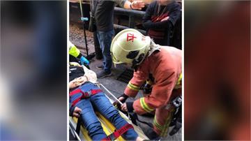 十分車站火車撞旅客 幸僅撕裂傷緊急送醫
