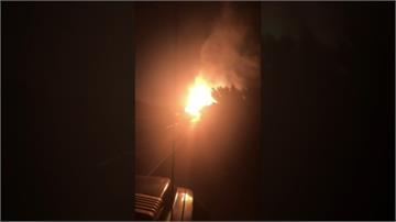 火焰衝上天際30多公尺!天然氣管線爆炸  嚇壞附近居民