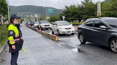 雙十連假首日 蘇花改車潮綿延3公里