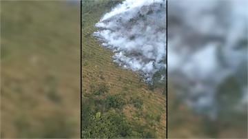 台中馬武佐野群山火燒山 兩公頃林地付之一炬