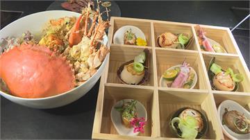 龍蝦小卷加濃郁蟹膏熬出鮮甜浮誇系海鮮粥 口感似台南湯飯