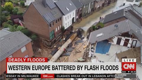 西歐面臨百年洪災 逾120死、千人下落不明