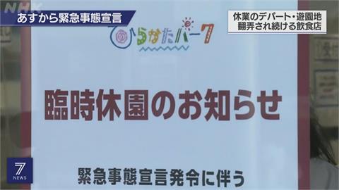 防止疫情蔓延 日本東京等四地今起進入17天緊急狀態