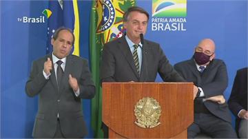 巴西總統抗疫誓師 狂酸記者長子確診