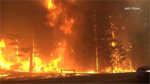 北加州大火迅速延燒 百年淘金城鎮數小時全毀