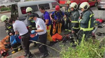 疑涵洞一氧化碳濃度超標 3工人受困獲救