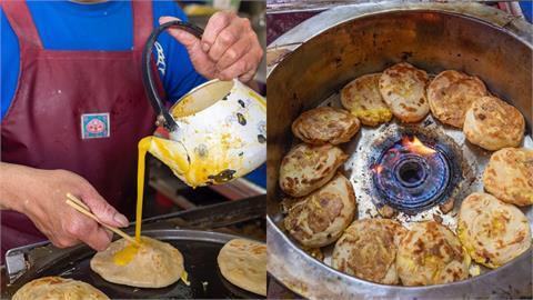 美食/台中東勢美食 老祖早餐蛋餅|來自安徽獨特「灌蛋餅」手法 金黃厚實餅皮搭配烘蛋內餡