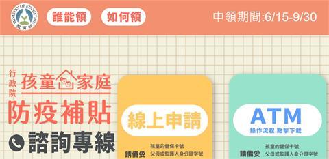 快新聞/近150萬人線上申請孩童家庭防疫補貼 教育部籲:網路查詢入帳不群聚