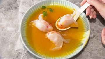 舌尖上的鮮味!金魚餃吃得到蝦子、花枝