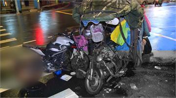 拼裝車左轉撞上直行重機 釀1死2傷