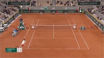 美網失格後首出賽 球王喬帥直落三晉法網第二輪