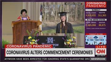 美國大學畢典空蕩蕩 畢業生遠距致答詞
