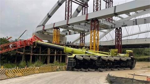 捷運三鶯線工程吊車翻覆 新北市開罰45萬