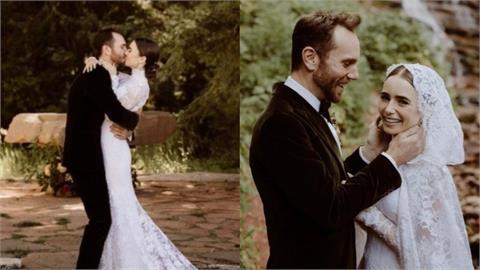 《艾蜜莉》升格人妻!女神莉莉柯林斯秘密完婚 絕美山林婚紗曝光