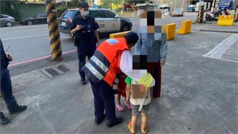在家悶壞了! 4歲龍鳳胎溜出門 警化身保母護送回家