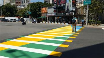 斑馬線變繽紛彩色!城市街景處處驚喜