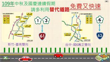 快新聞/中秋、國慶連假國道預期塞爆 高公局籲用路人多利用台61