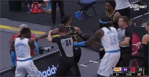 NBA/湖人暴龍上演全武行 聯盟罰3球員禁賽