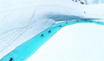加拿大哥倫比亞秘境 淡藍色冰河美不勝收