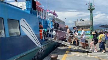快新聞/颱風影響海象不佳 台東-蘭嶼船班午後全取消