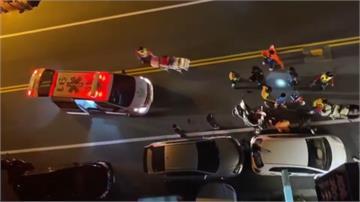 貪吃「全酒薑母鴨」 騎車追撞2車4人傷