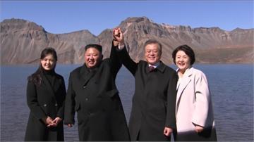 金、文共登白頭山 文在寅興奮圓夢返南韓