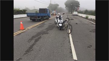 疑似濃霧擋視線 警騎車上班擦撞單車老翁