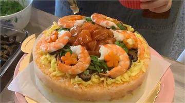 壽司加海鮮做成蛋糕 限定母親節一天開賣