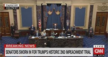 共和黨提彈劾卸任總統違憲 參院表決:不違憲
