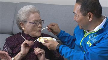 百歲人瑞阿嬤活力又健康! 侯友宜親送重陽禮金、金戒指
