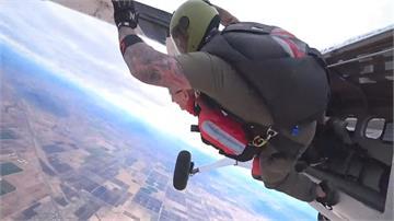 老當益壯!美國百歲榮民高空跳傘慶生