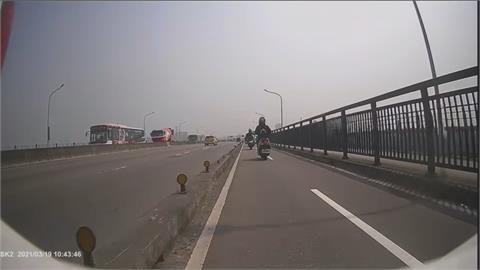 機車族福音! 雙北橋梁機車道分隔島 四座橋4月底前改善