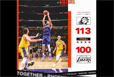 NBA/布克狂轟47分 太陽曬昏湖人闖季後賽次輪