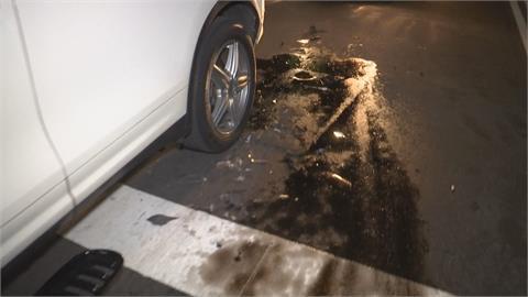 前車事故肇逃...沒察覺路面油漬 老騎士「犁田」嚇壞
