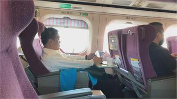 立委翁重鈞搭高鐵不戴口罩 教授李筱峰直擊
