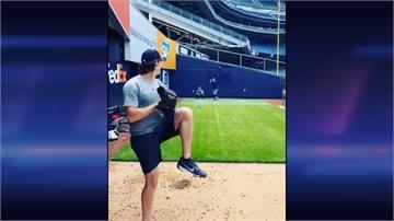 MLB/終於踏上洋基球場投手丘 王牌柯爾練投畫面曝光