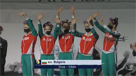 韻律體操世界盃防疫 無人機吊掛獎牌頒獎