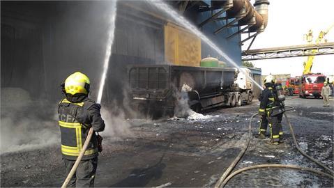 台中豐興鋼鐵爐渣車爆炸 2員工燒燙傷送醫