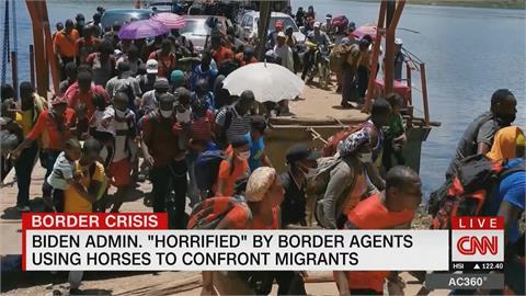 美國驅逐德州邊境海地難民「騎警揮鞭」 賀錦麗批可怕